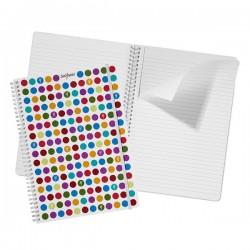 Caiet De Birou A4 Spira + Elastic Dots Snopake