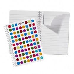 Caiet De Birou A5 Spira + Elastic Dots Snopake
