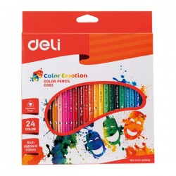Creioane Colorate 24 Culori Color Emotion Deli