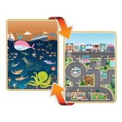 Covoras de Joaca cu Doua Fete pentru Copii City / Ocean
