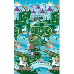Covoras de Joaca cu Doua Fete pentru Copii Prince Lionheart City / Fantasyland